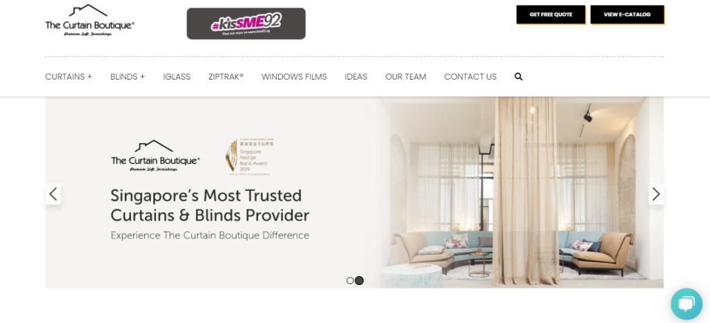 The Curtain Boutique Top Blinds Stores in Singapore