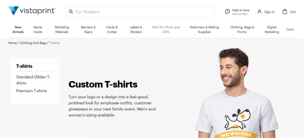 Vista Print Top T-Shirt Design Stores in Singapore