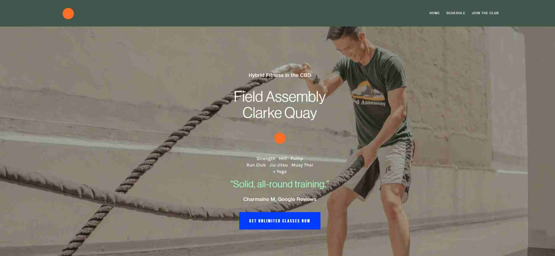 field assembly Top Strength Training Gyms in Singapore