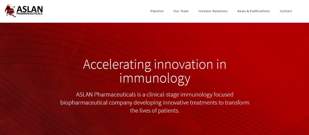 Aslan Pharma Top Biomedical Engineering Service Providers in Singapore