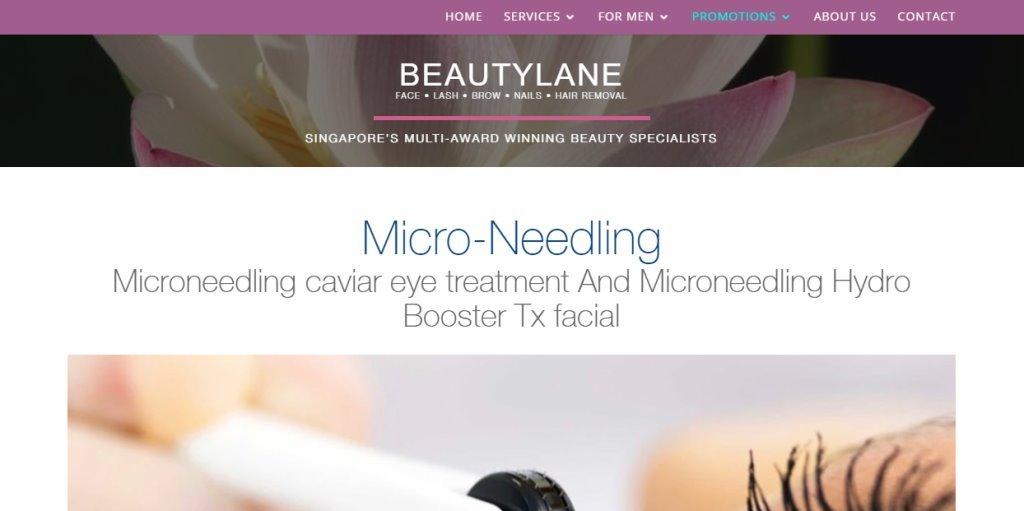 Beauty Lane Top Microneedling Clinics in Singapore