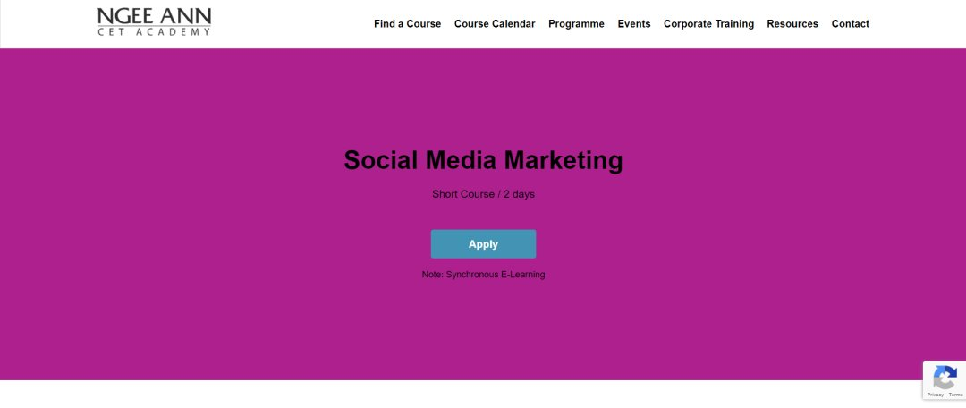 Cet Academy Top Social Media Courses in Singapore