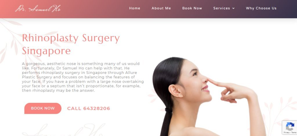 Dr Samuel Ho Top Rhinoplasty Clinics in Singapore
