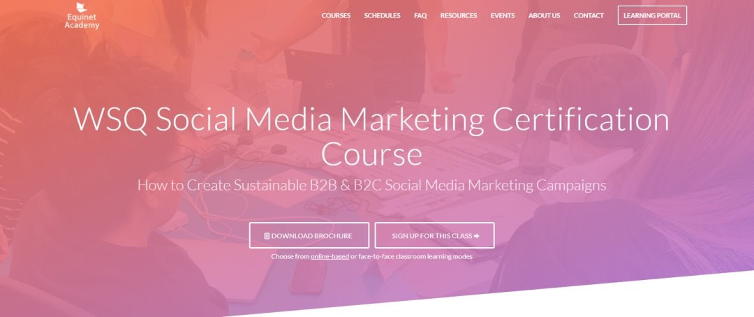 Equinet Top Social Media Courses in Singapore