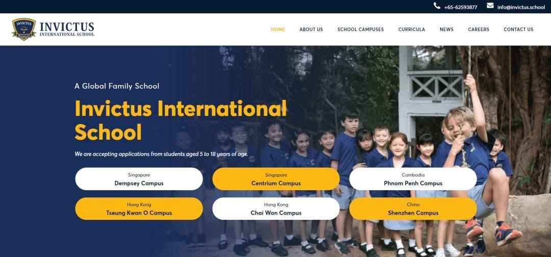 Invictus Top International Schools in Singapore