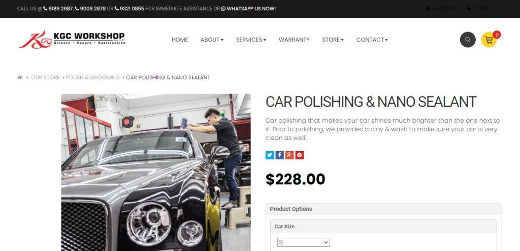 KGC Workshop Top Car Polishing Services in Singapore