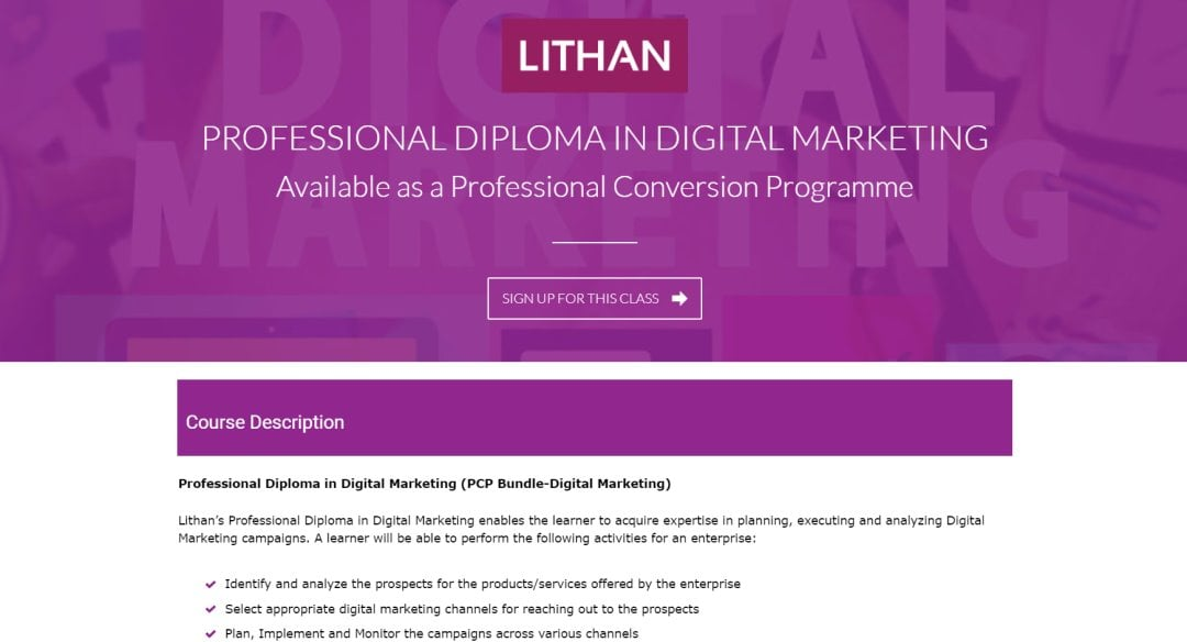 Lithan Top Social Media Courses in Singapore