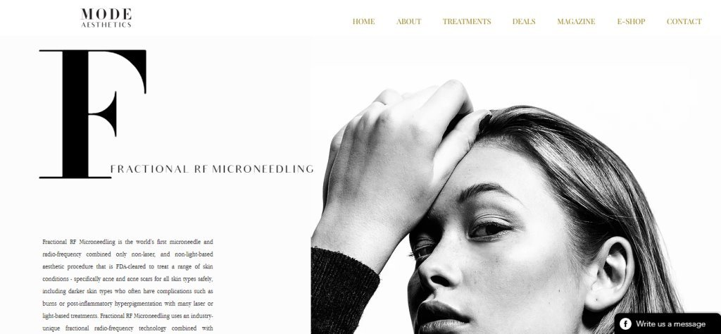 Mode Aesthetic Top Microneedling Clinics in Singapore