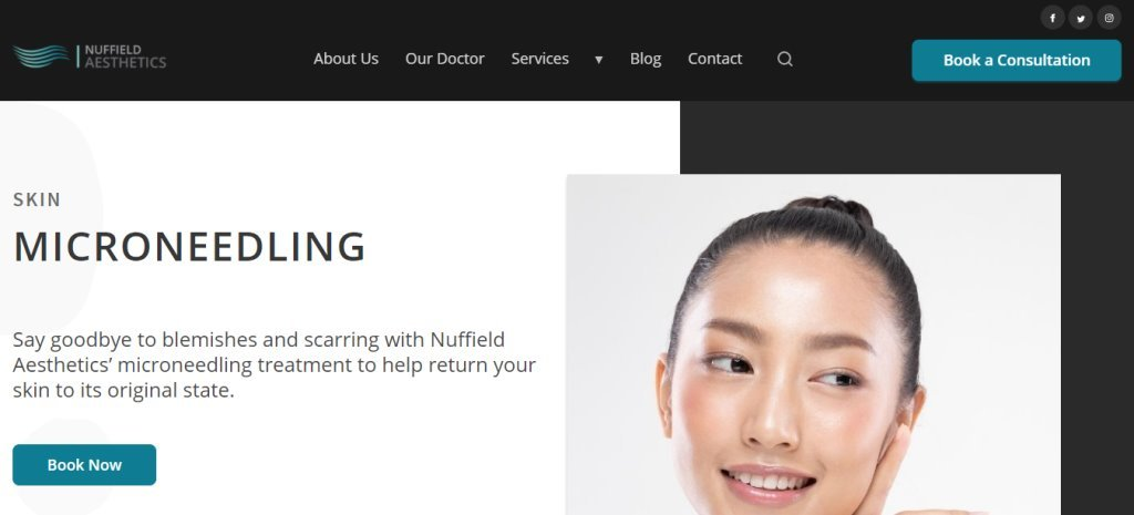 Nuffield Top Microneedling Clinics in Singapore