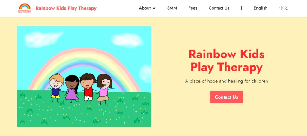 Rainbow Kids Top Play Therapy Services in Singapore