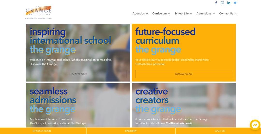 The Grange Top International Schools in Singapore