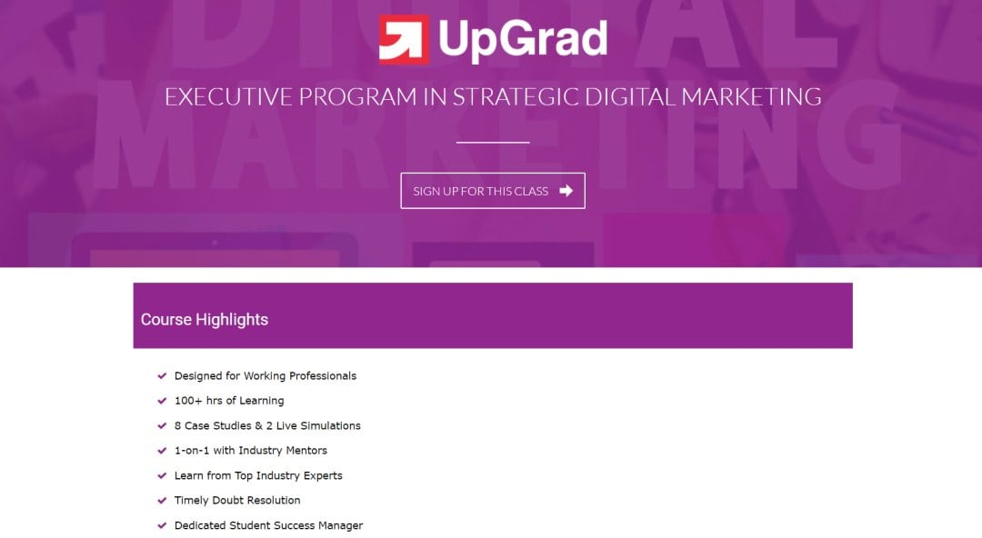 UpGrad Top Social Media Courses in Singapore