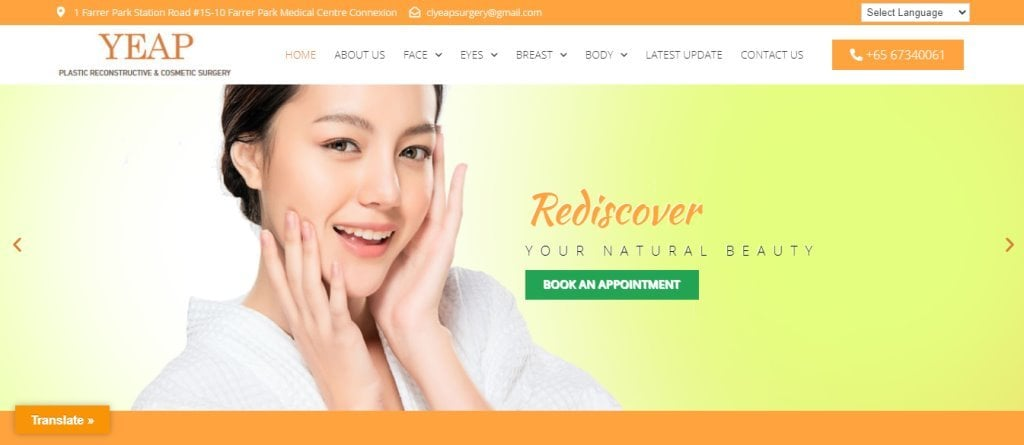 Yeap Top Double Eyelid Surgery Clinics in Singapore