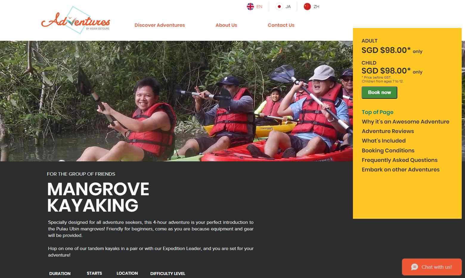 adventures Top Kayaking Activities in Singapore