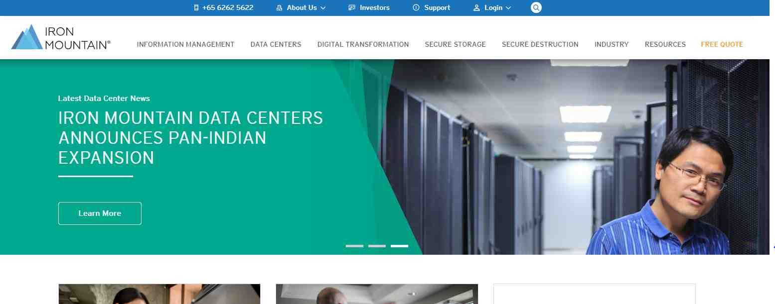 iron mountain Top Digitalization Service Providers in Singapore