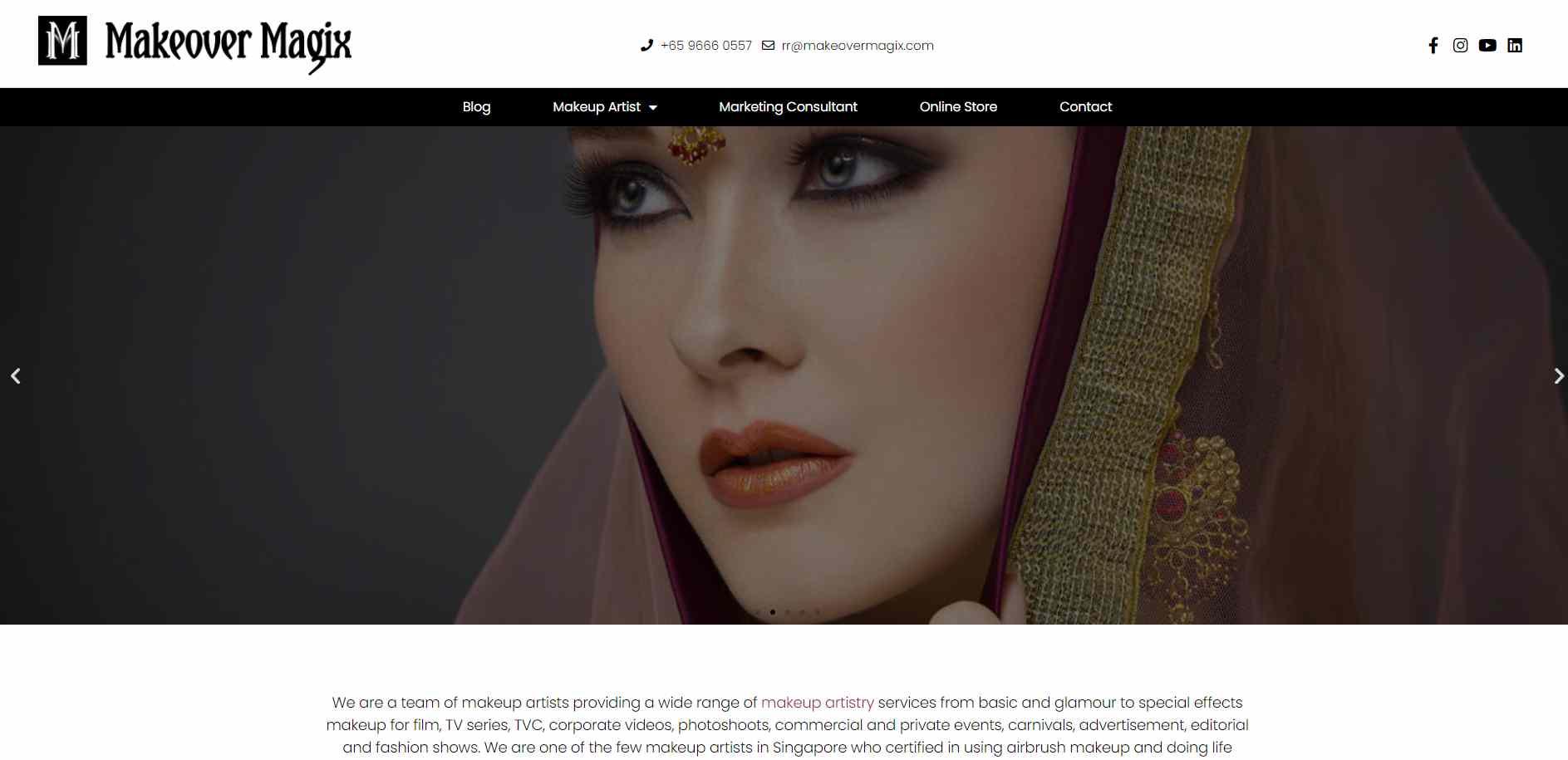 makeover magix Top Makeup Artists in Singapore