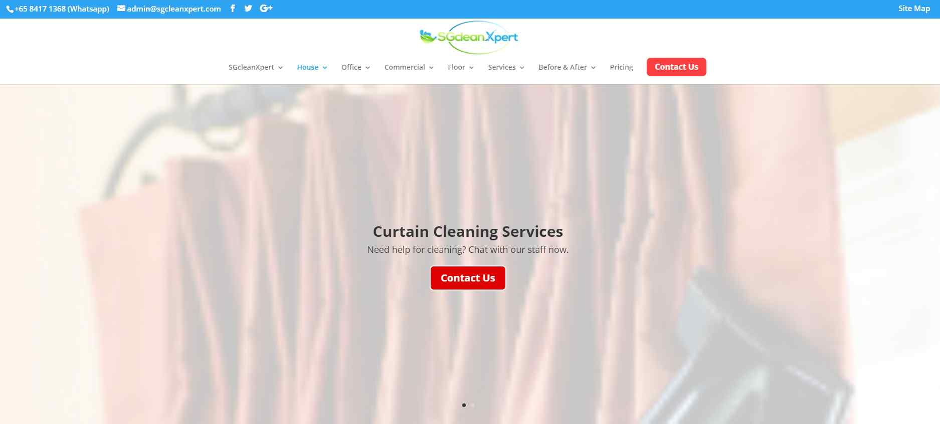 sg clean expert Top Curtain Cleaning Services in Singapore