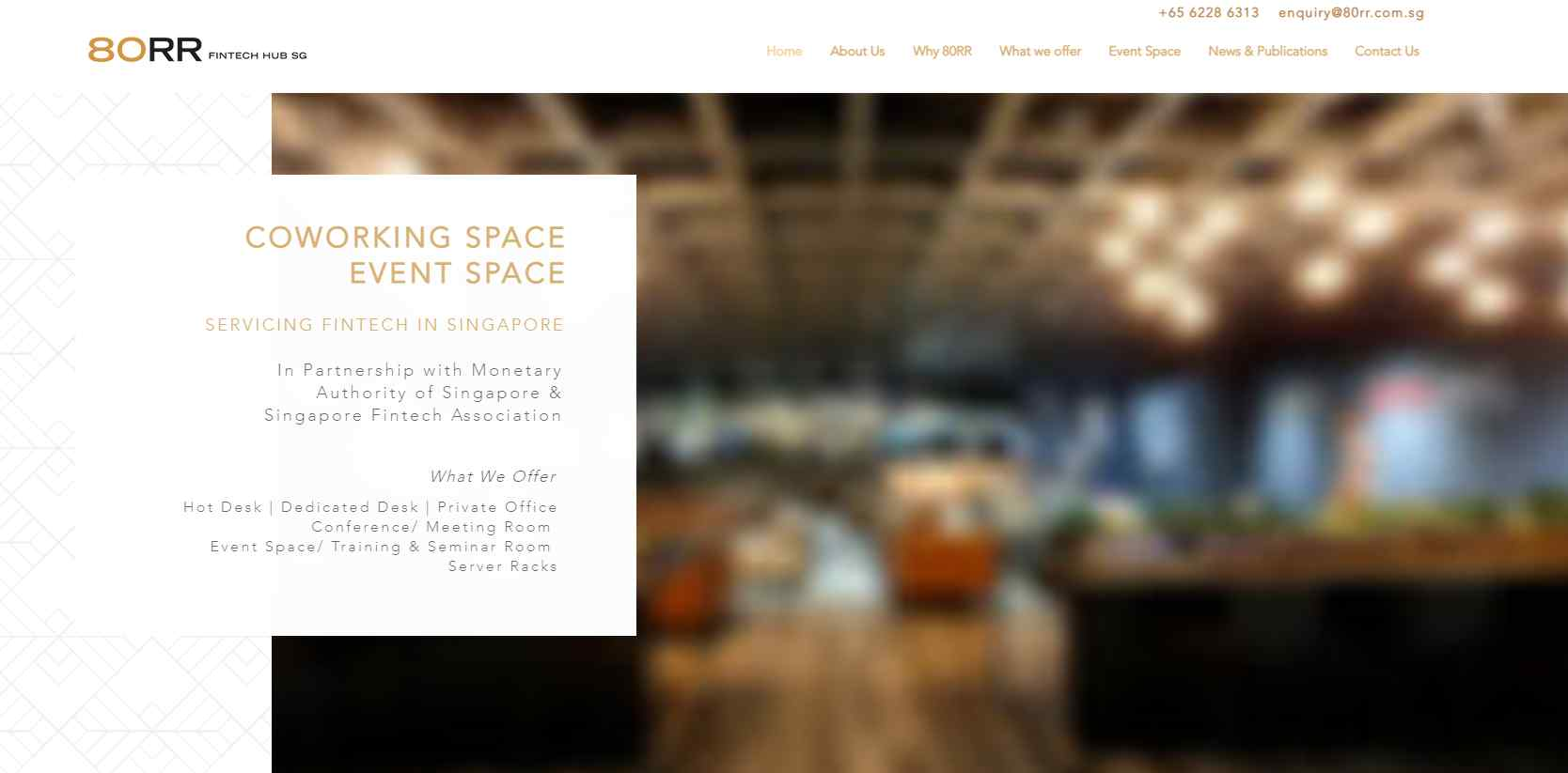 80rr Top Co-working Space Providers in Singapore