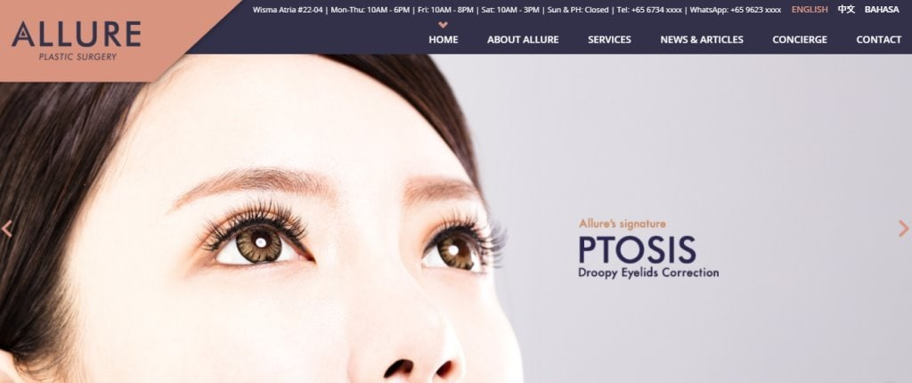 Allure Top Otoplasty Clinics in Singapore