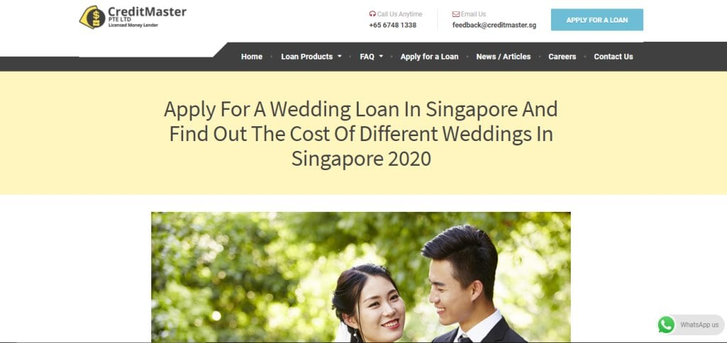 Credit Master Top Wedding Loan Providers in Singapore