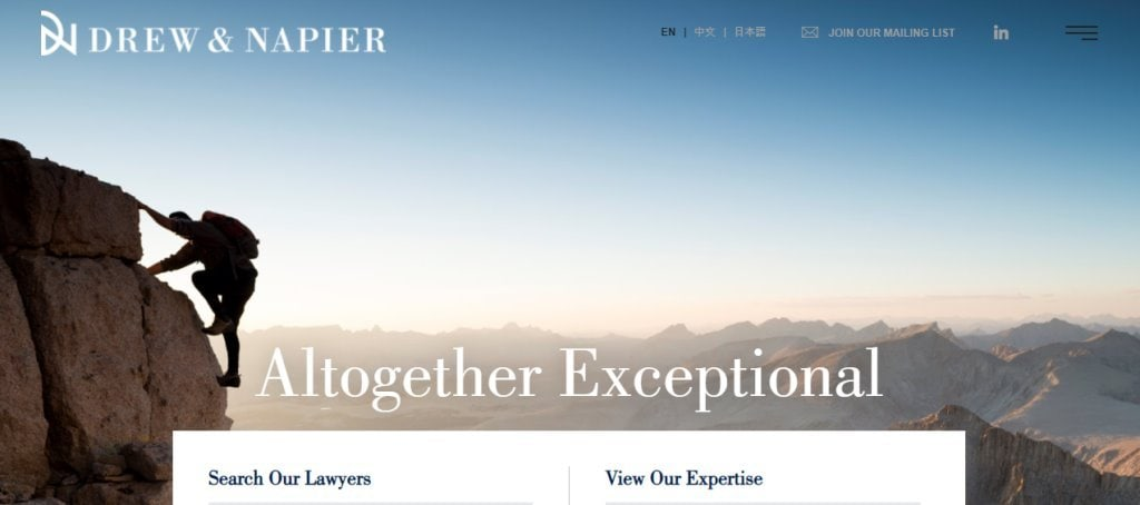 Drew & Napier Top Mergers & Acquisition Law Firms in Singapore