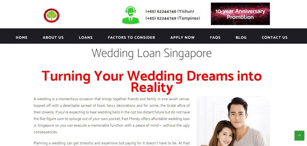 Fast Money Top Wedding Loan Providers in Singapore
