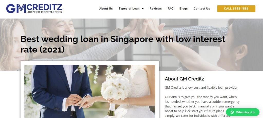 GM Creditz Top Wedding Loan Providers in Singapore