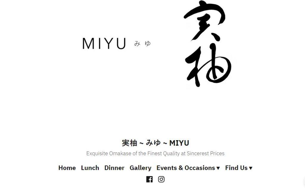MIYU Top Sushi Restaurants in Singapore