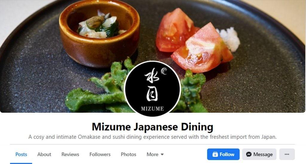 Mizume Top Omakase Restaurants in Singapore