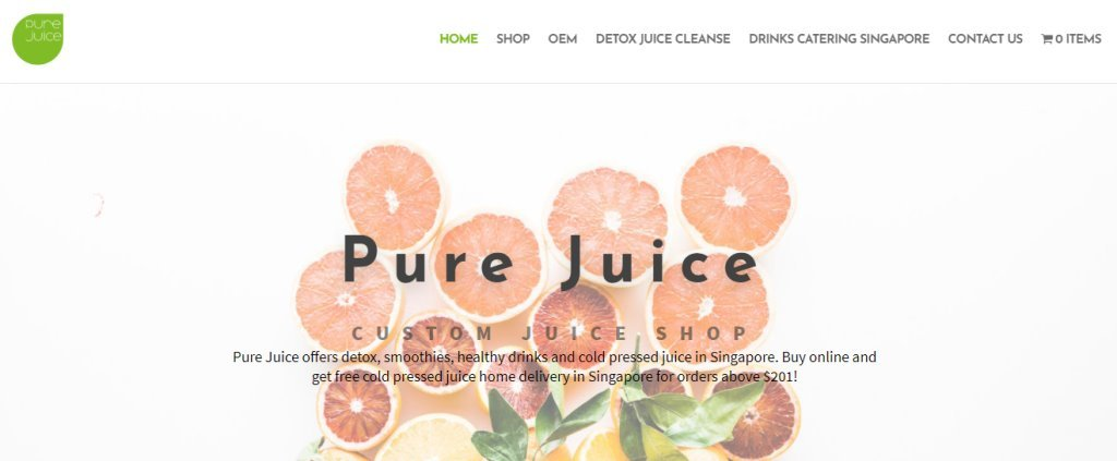Pure Juice Top Detox Service Providers in Singapore