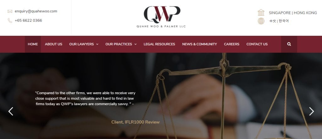 Quahe Woo Top Criminal Lawyers in Singapore