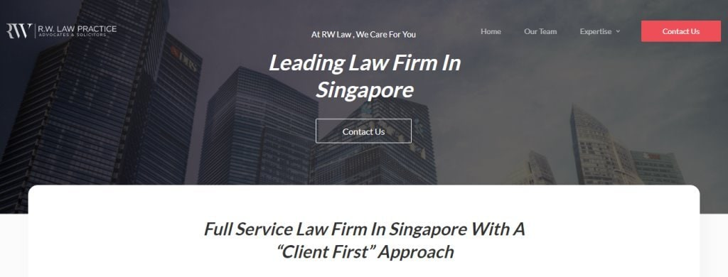 RW Law Top Criminal Lawyers in Singapore