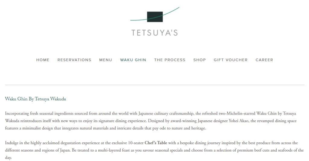 Tetsuya's Top Omakase Restaurants in Singapore