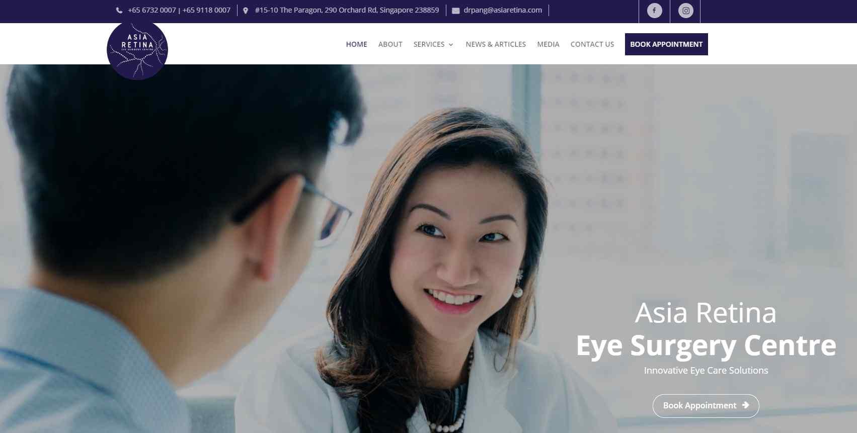 aisa retina Top Ptosis Surgery Clinics in Singapore