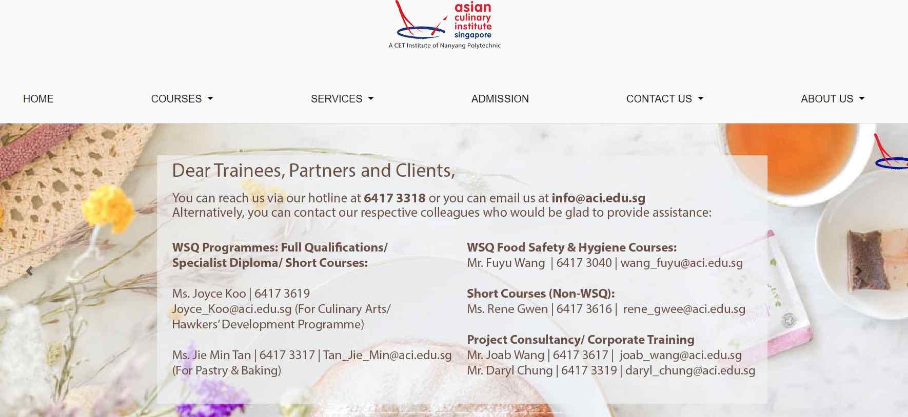 asian culinary institute Top Culinary Schools in Singapore