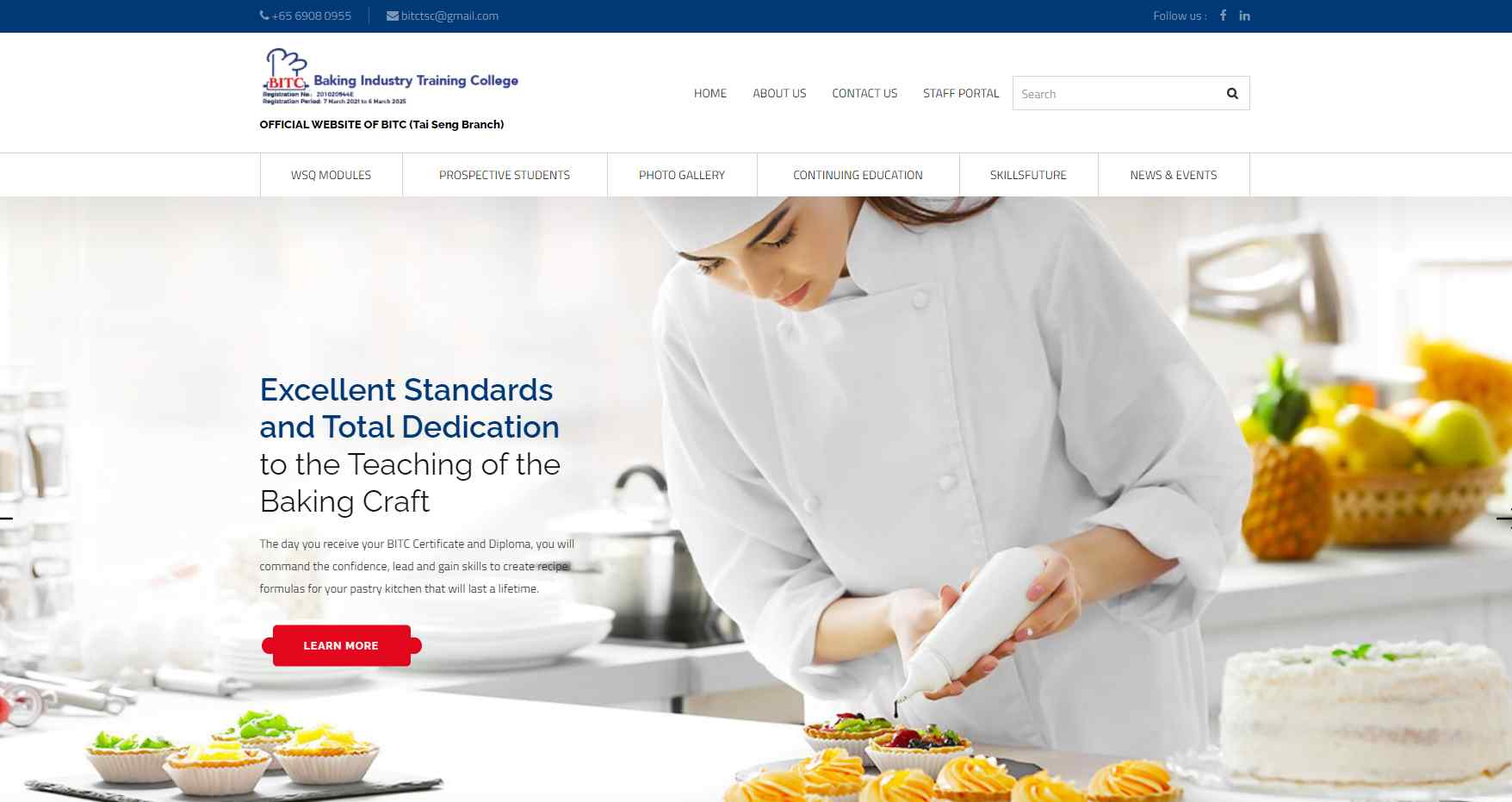 baking industry training Top Culinary Schools in Singapore