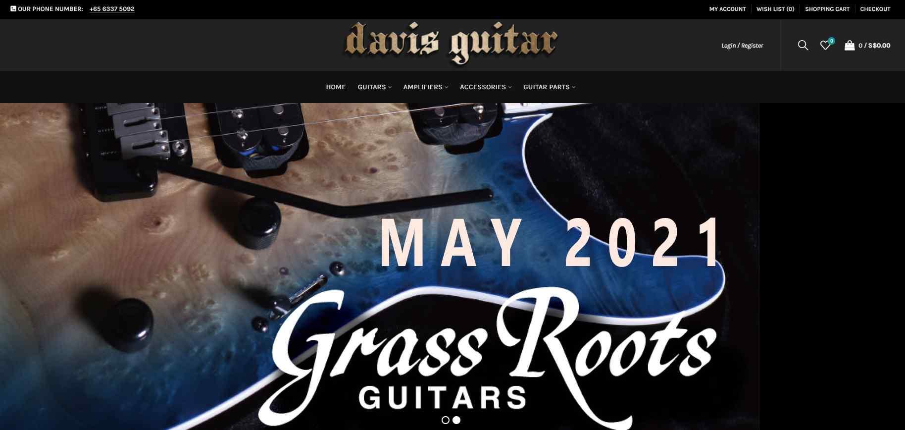 davis guitar Top Music Stores in Singapore