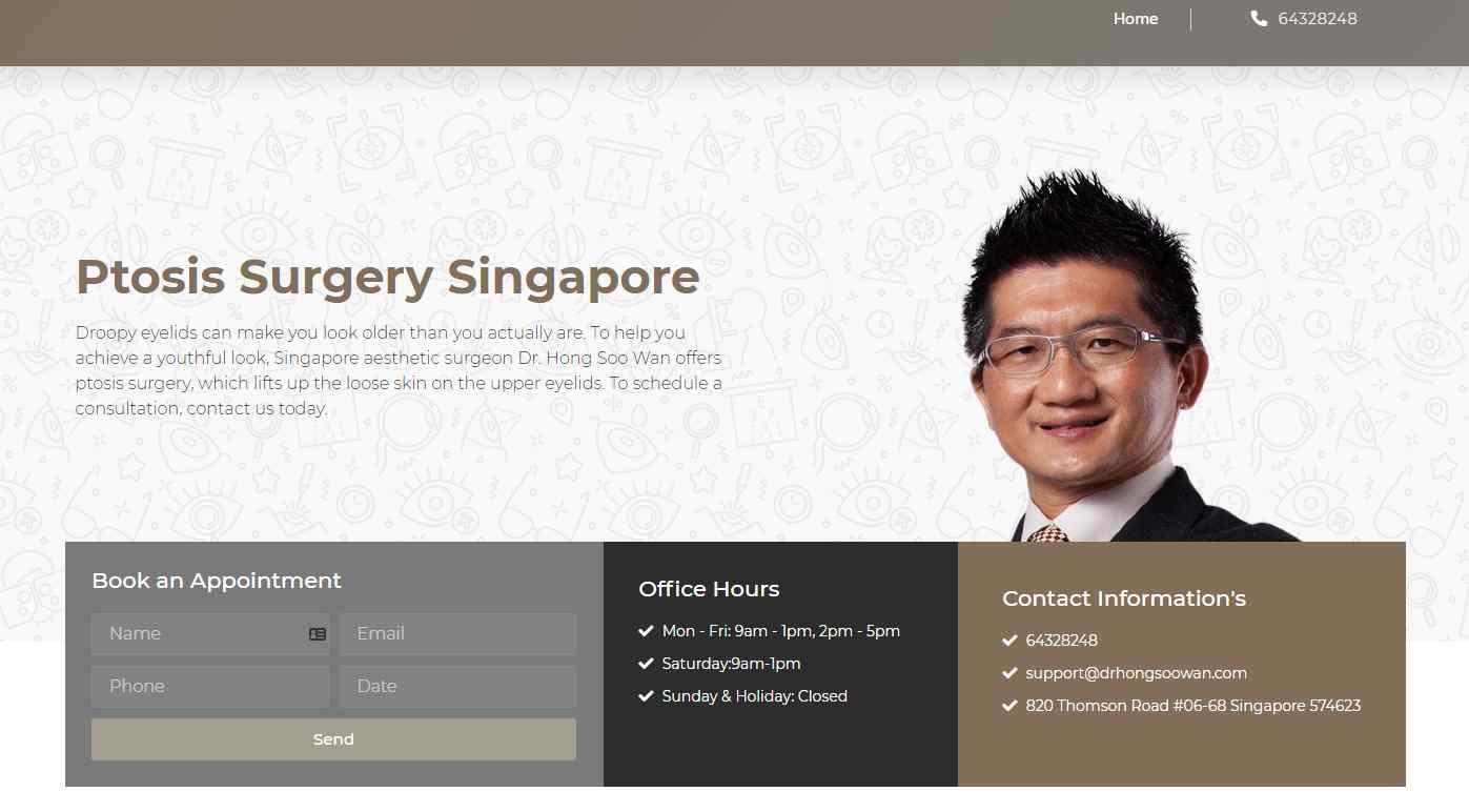 dr hong soowan ''Top Ptosis Surgery Clinics in Singapore