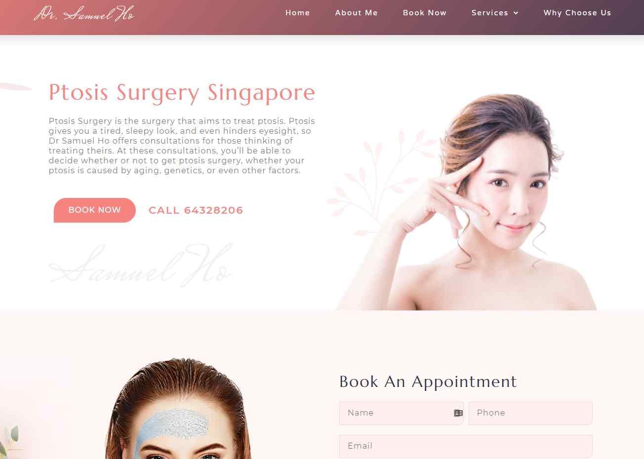 dr samuel Top Ptosis Surgery Clinics in Singapore