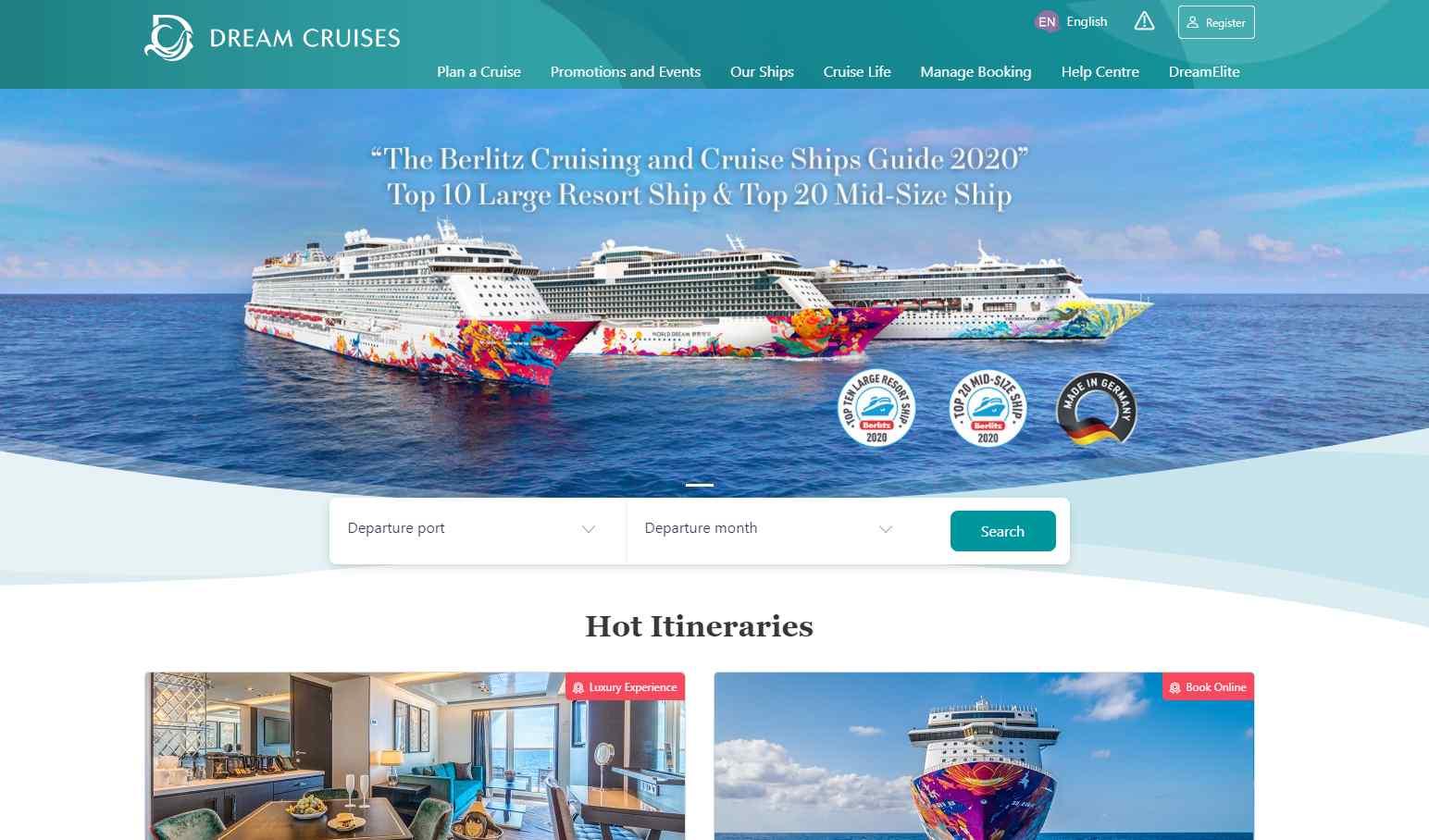 dream cruises Top Cruise Operators in Singapore