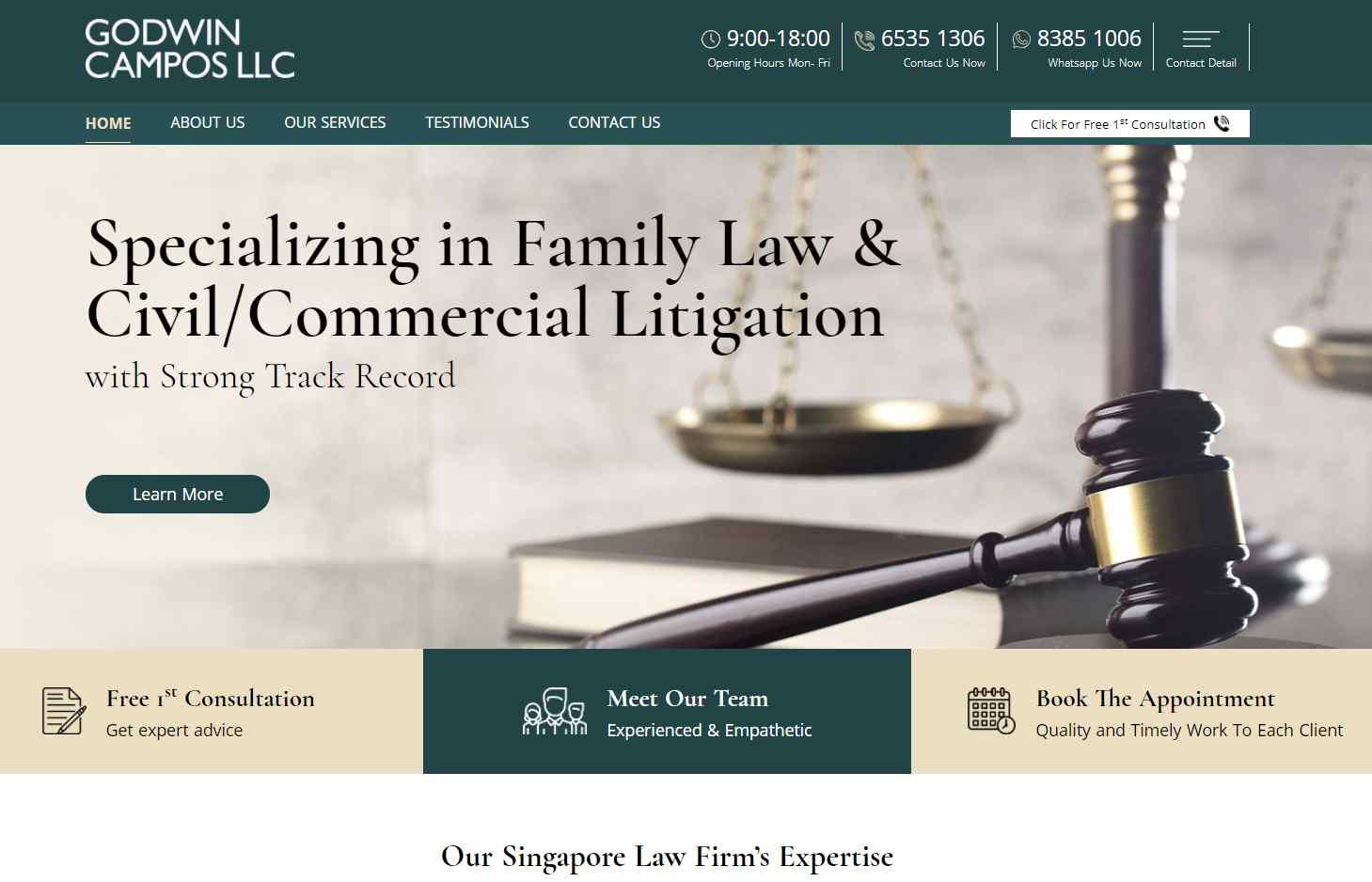 godwin campos Top Divorce Lawyers in Singapore