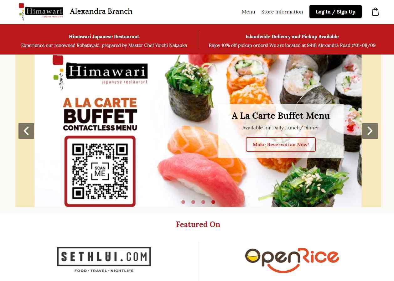 himawari Top Japanese Buffets in Singapore