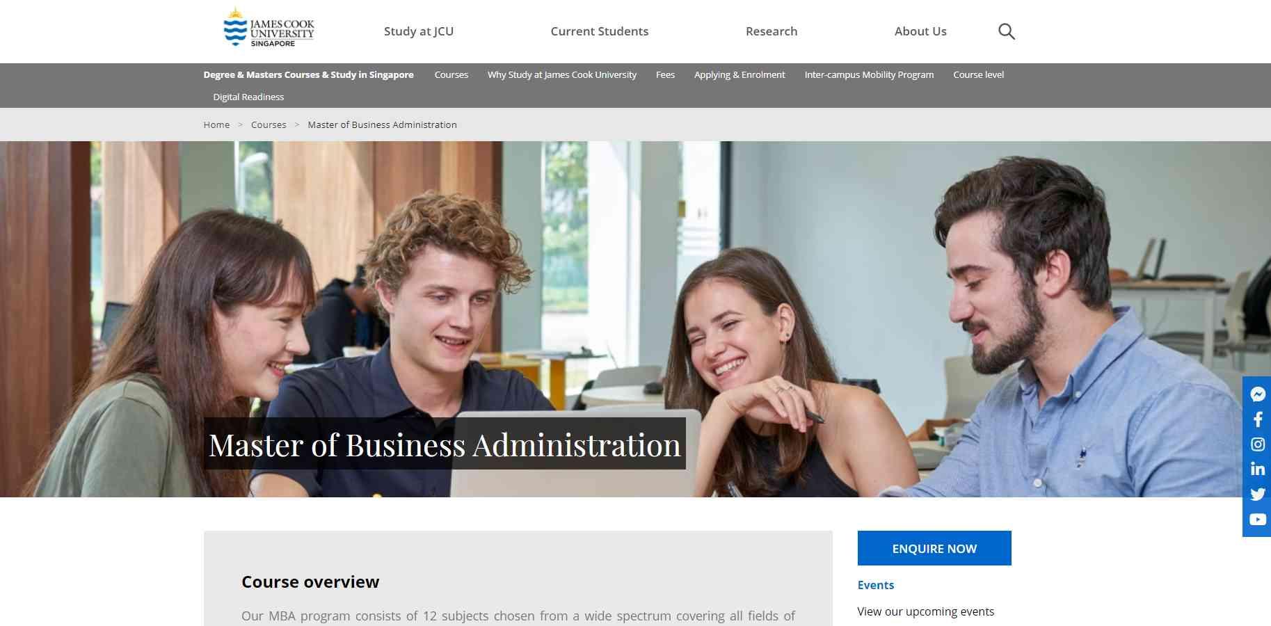 jamescook Top MBA Programmes in Singapore