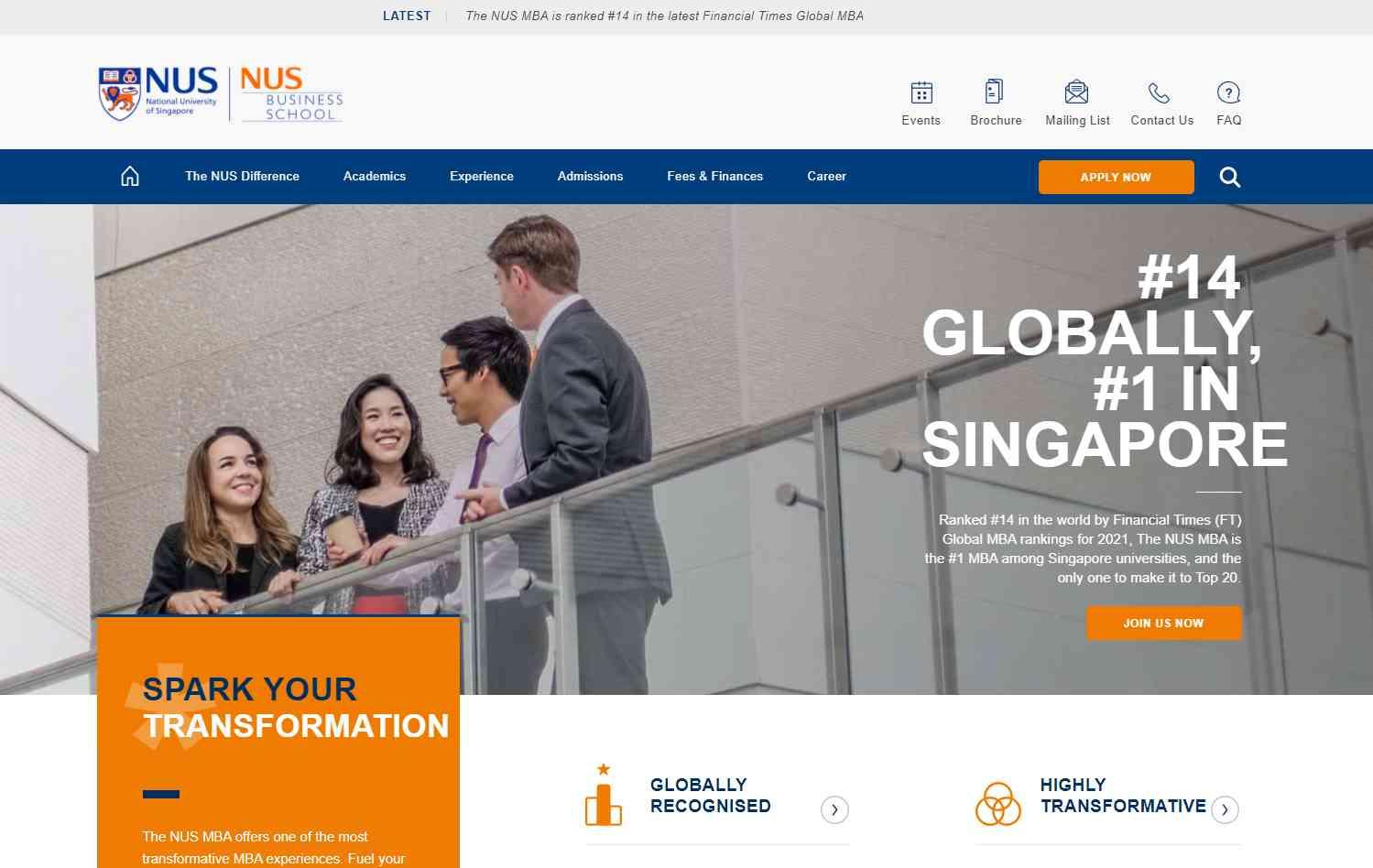 nus Top MBA Programmes in Singapore