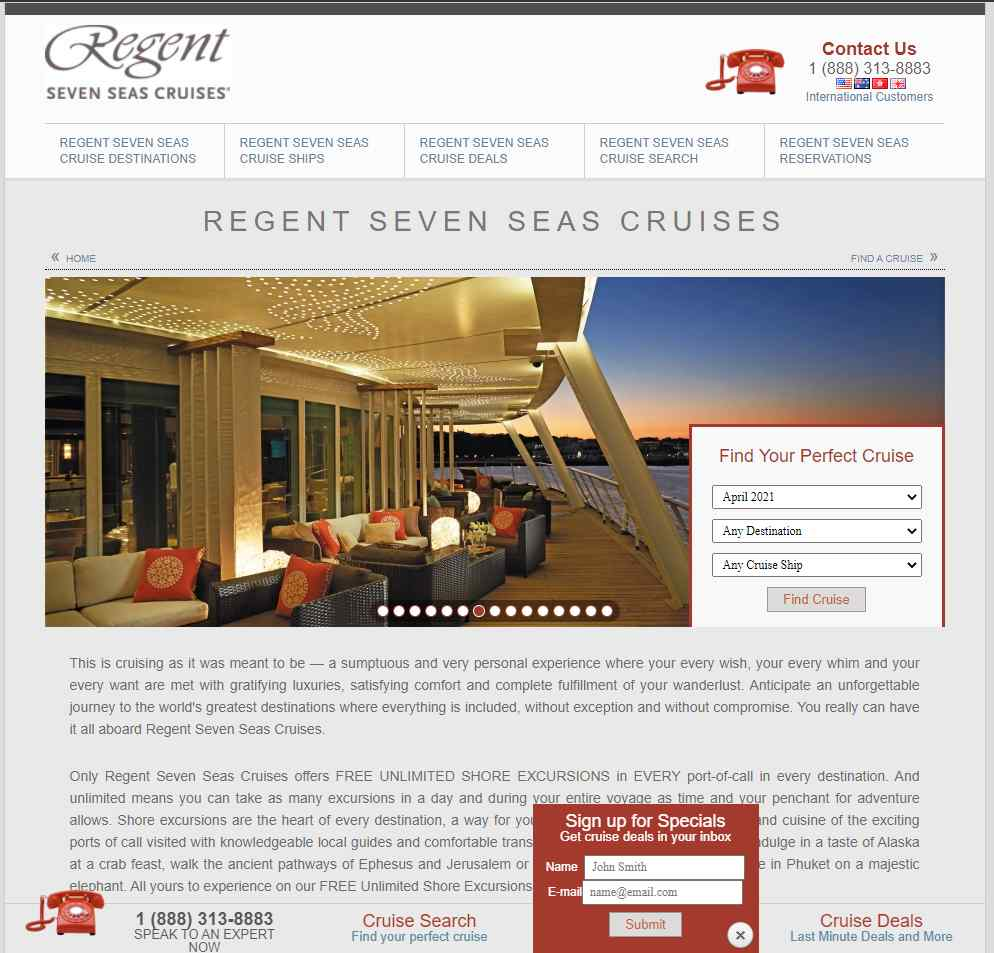 regent Top Cruise Operators in Singapore