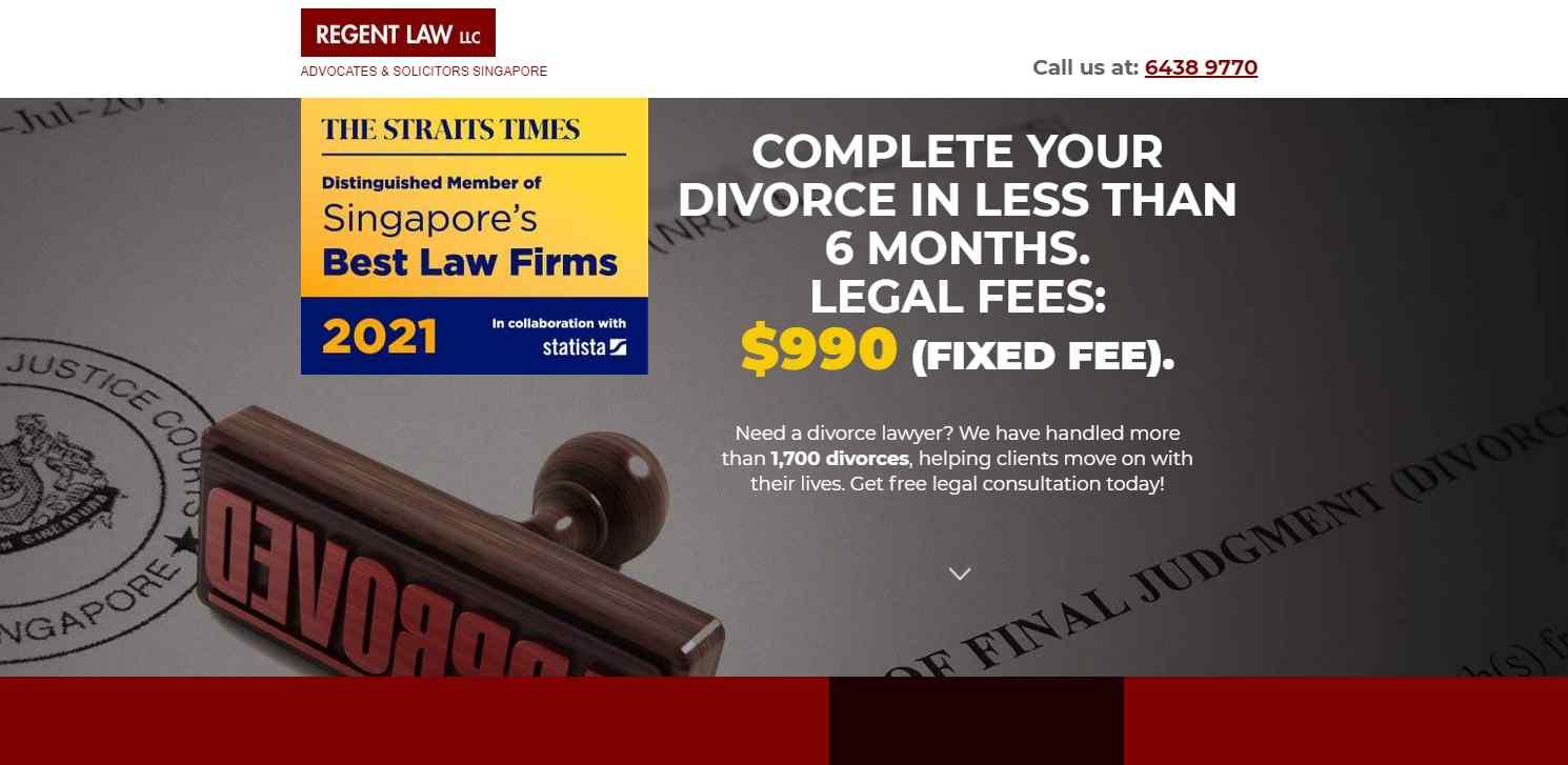 regent law Top Divorce Lawyers in Singapore