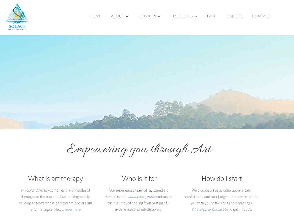 solace Top Art Therapy Providers in Singapore