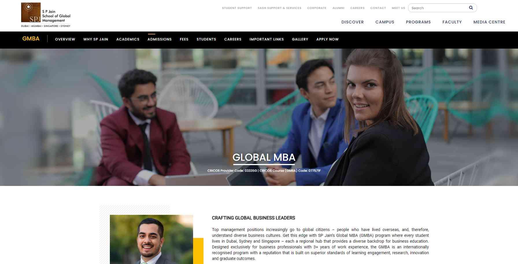 spjain Top MBA Programmes in Singapore