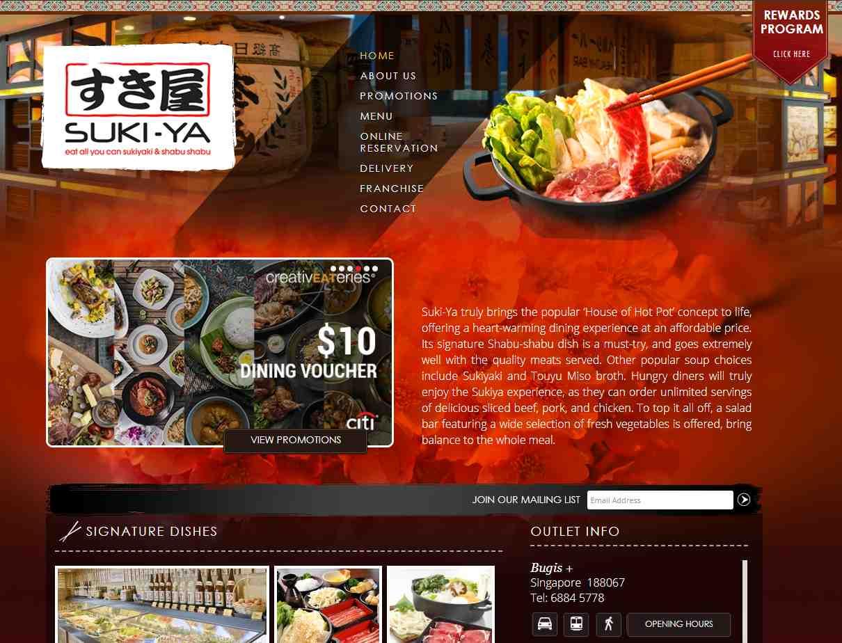 suki-ya Top Japanese Buffets in Singapore