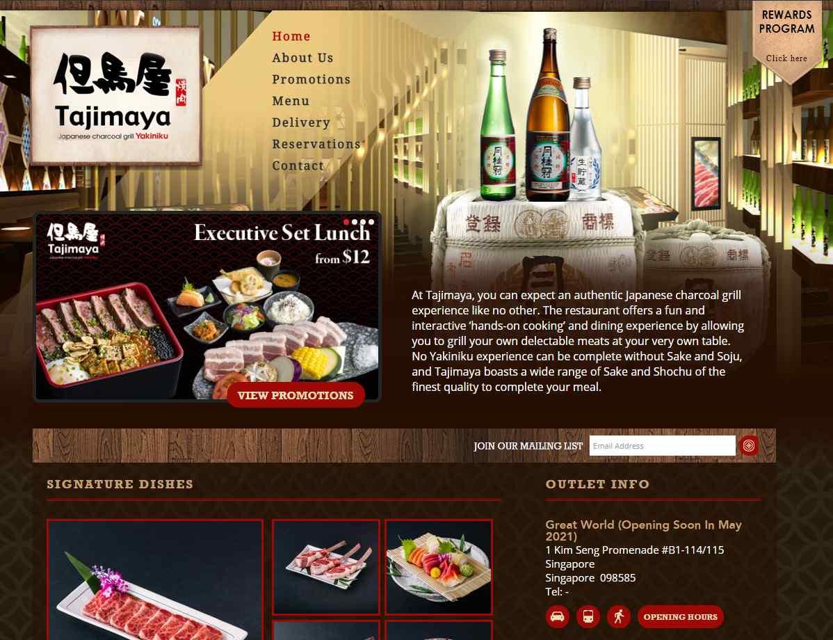 tajimaya Top Japanese Buffets in Singapore